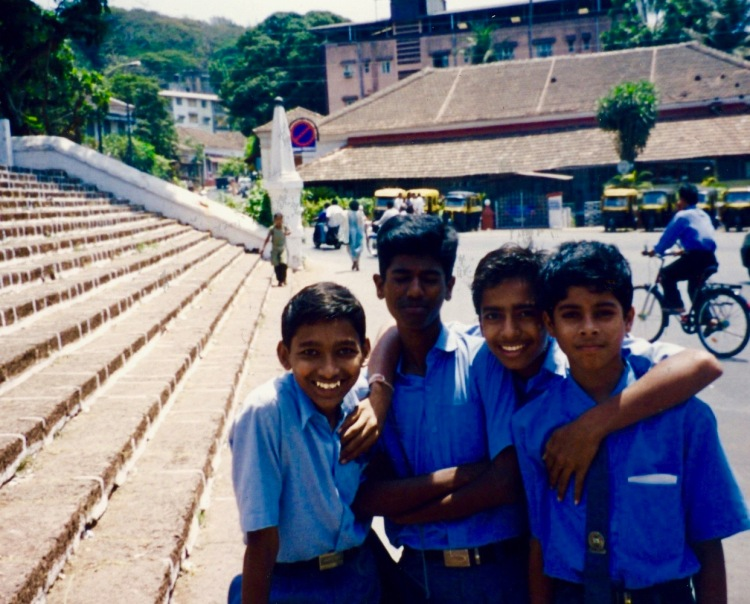 School kids Panjim Goa India April 2004