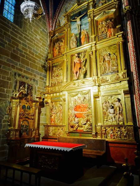 Side altar Pamplona Cathedral Santa Maria Cathedral Spain