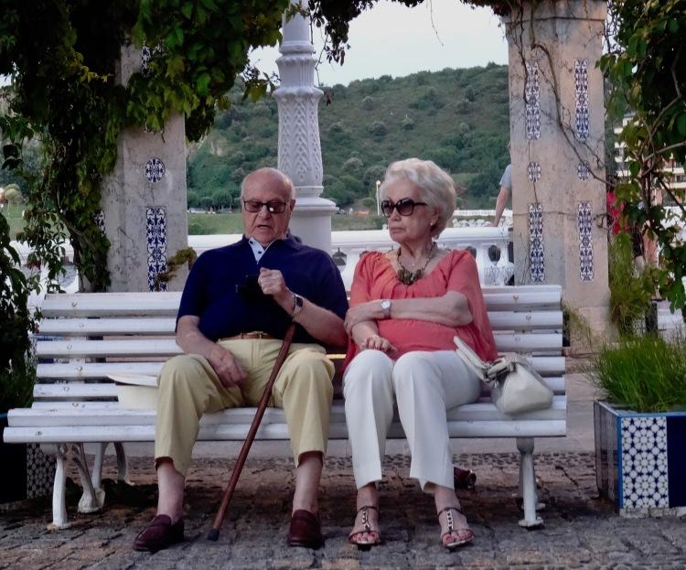 Sittin' doin nothin' Castro Urdiales promenade Cantabria Spain