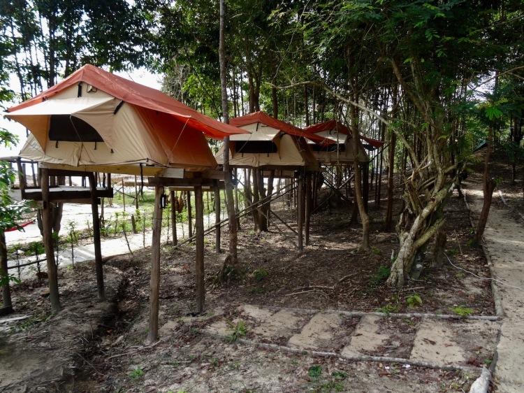 Stilt tents Nature Beach Koh Rong Cambodia