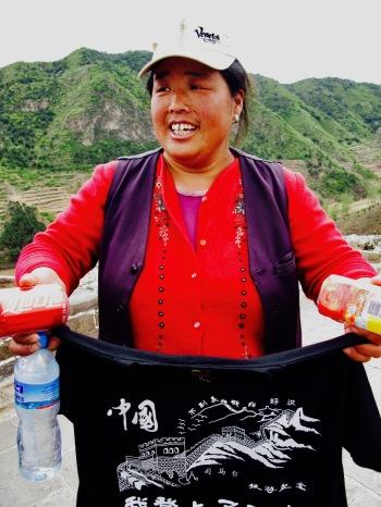 T shirt vendor The Great Wall of China Jinshanling to Simatai hike