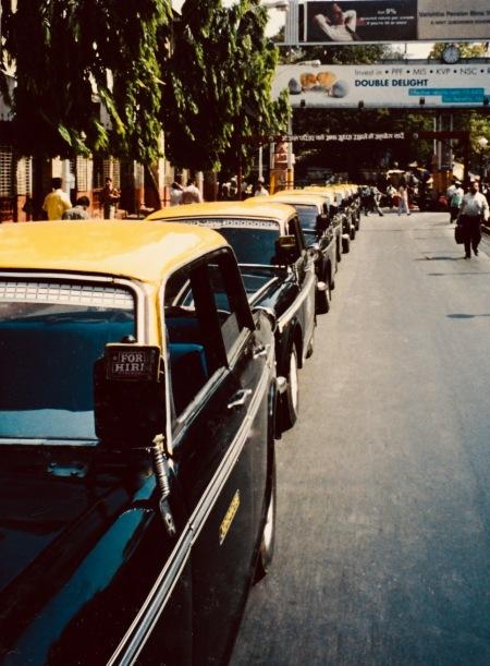 Taxi rank Mumbai India April 2004