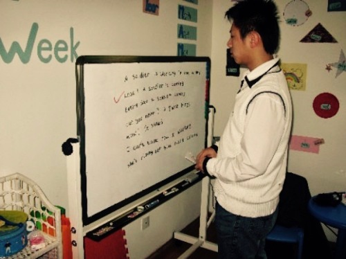 Teaching James Bond English training school Shangdi Beijing
