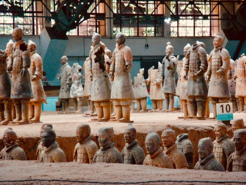Terracotta Warriors Xian China Pit 1 Mausoleum of the First Qin Emperor