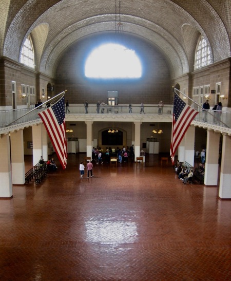 The Great Hall registry room Ellis Island Immigration Museum New York City