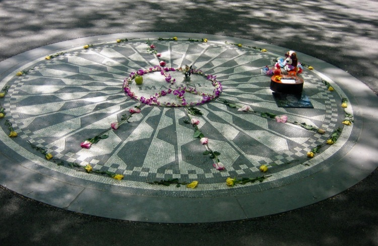 The Imagine Mosaic Strawberry Fields Memorial Central Park New York City