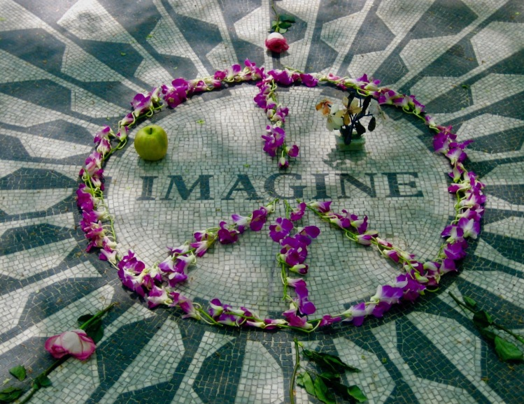 The Imagine Mosaic Strawberry Fields Memorial Central Park New York City