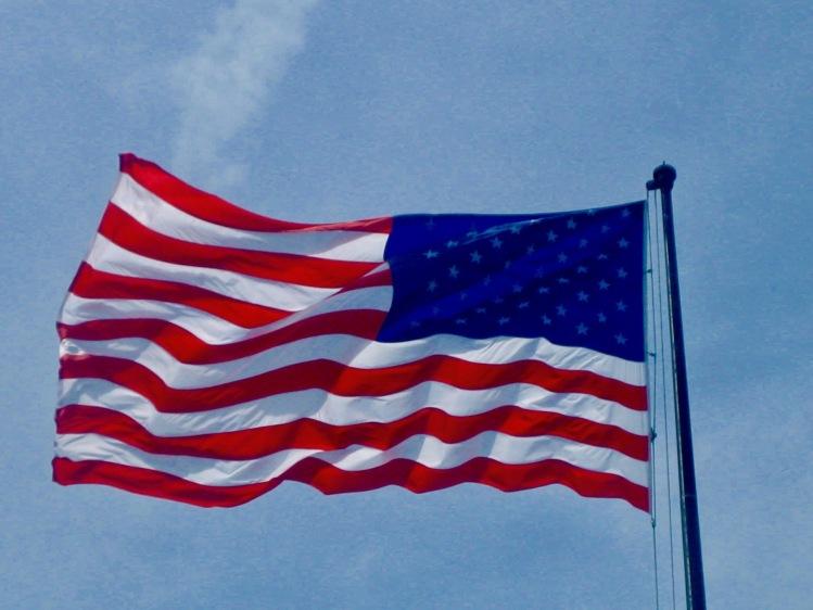 USA Flag Liberty Island New York City