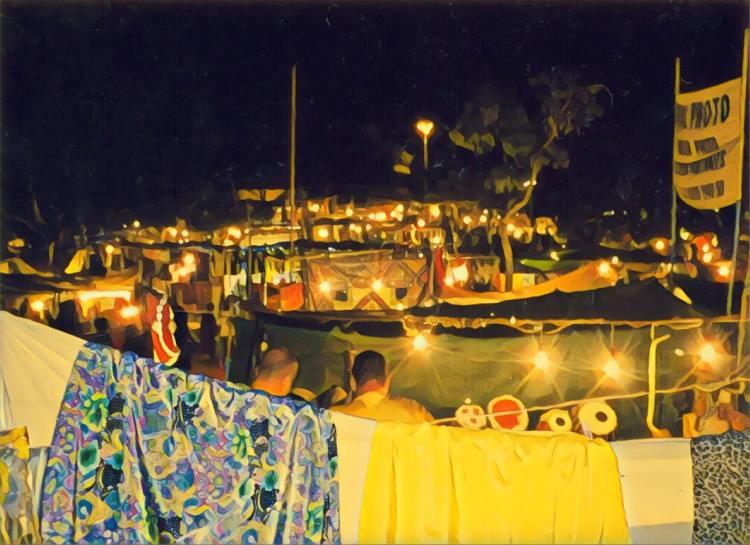Vagator Night Market Goa India April 2004