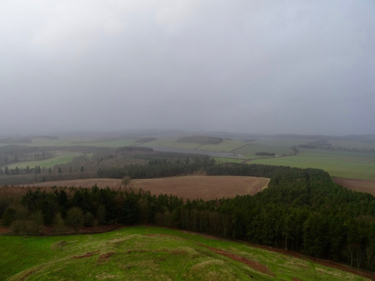 Views from the top of The Waterloo Monument Peniel Heugh The Scottish Borders