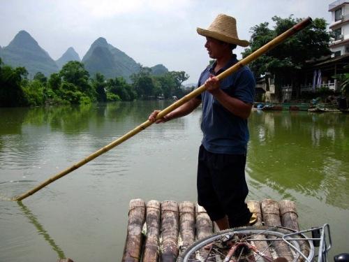 Yulong River cruise Yangshuo County Guangxi China