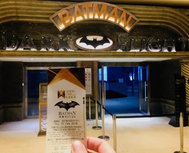 Batman Dark Flight Studio City Hotel and Casino Macau