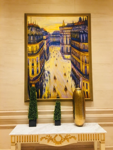 Corridor painting The Parisian Hotel and Casino Macau