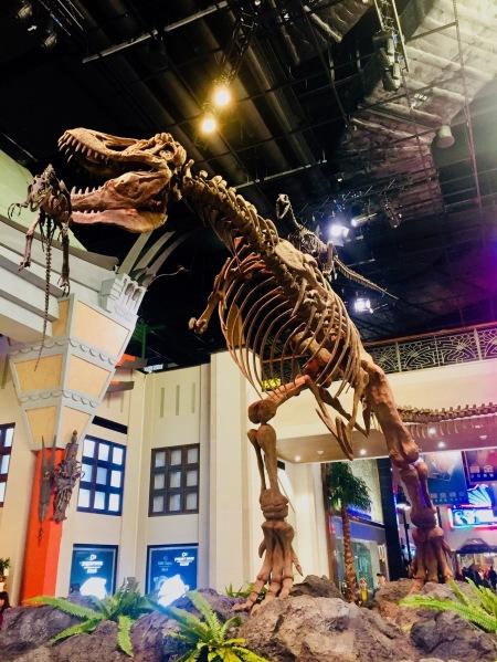 Giant dinosaur Studio City Hotel and Casino Macau