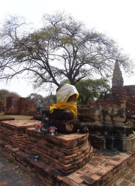 Headless buddha Wat Phra Ram Ayutthaya Historical Park Thailand