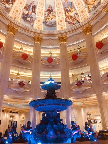 Lobby fountain The Parisian Hotel and Casino Macau
