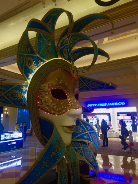 Mask sculpture The Venetian Hotel and Casino Macau