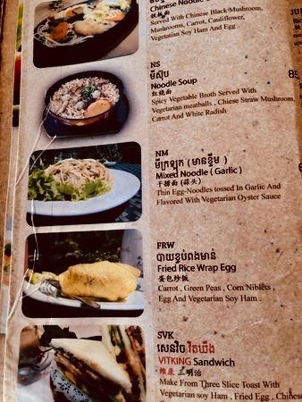 Menu Vitking House restaurant Siem Reap Cambodia