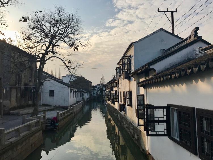 Residential canal street near Pingjiang Road Suzhou China