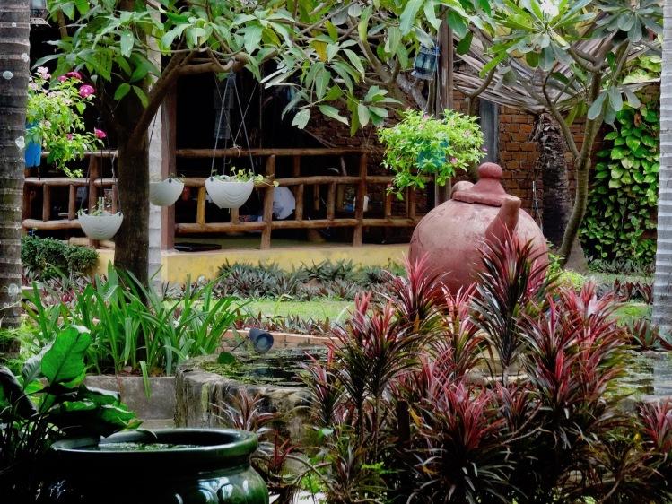 Restaurant garden Vitking House Siem Reap Cambodia