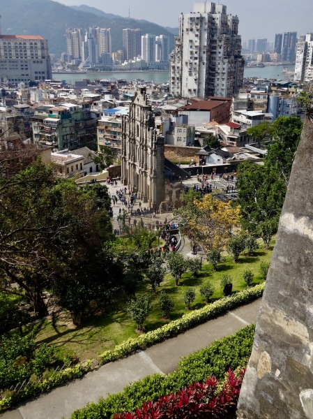 St. Paul's Ruins from Monte Fort Macau