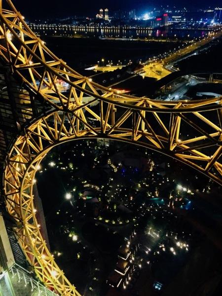 The Golden Reel Figure 8 Ferris Wheel Studio City Hotel and Casino Macau