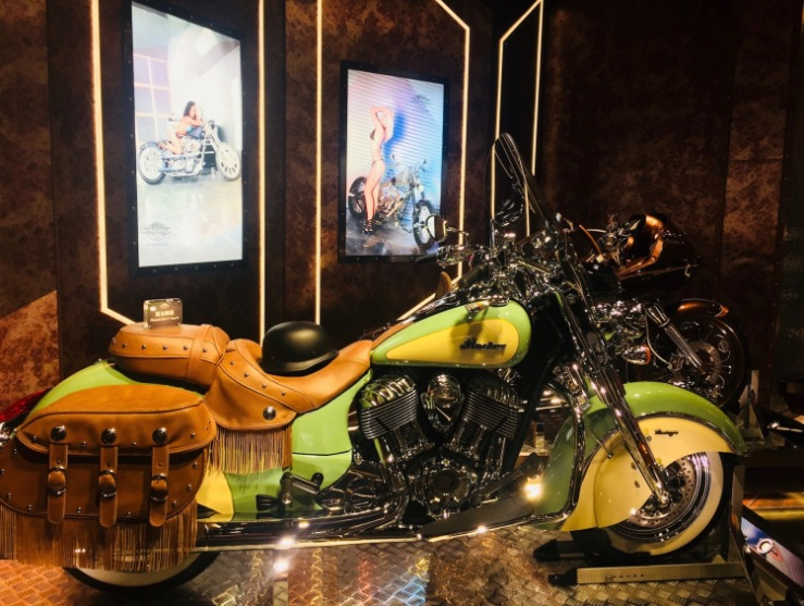 Vintage Indian Motorcycle Street Steel Heavy Metal Bike Gallery Macau