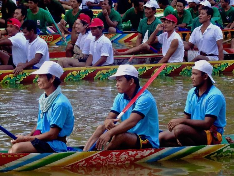 Boat racing Bon Om Touk Water Festival Siem Reap Cambodia