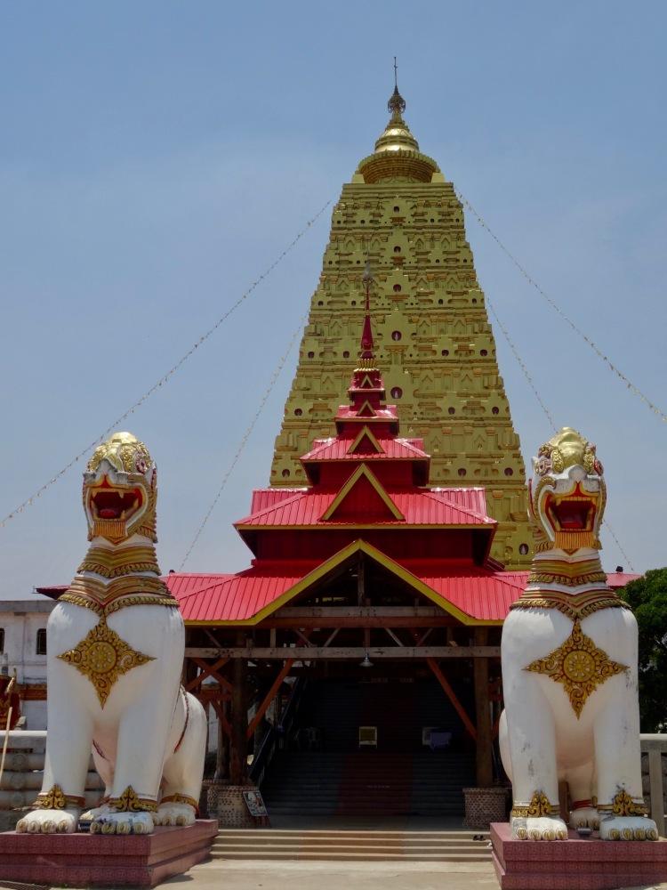 Buddhakaya Chedi Mon village Sangkhlaburi Thailand