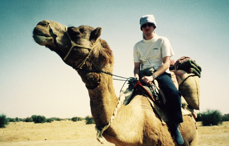 Camel safari The Great Thar Desert Jaisalmer India