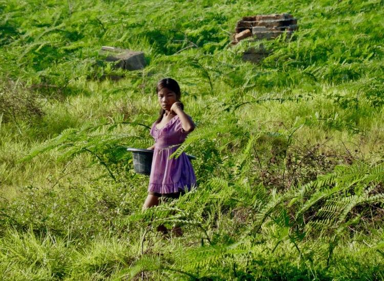 Child farmer Sangkhlaburi Thailand