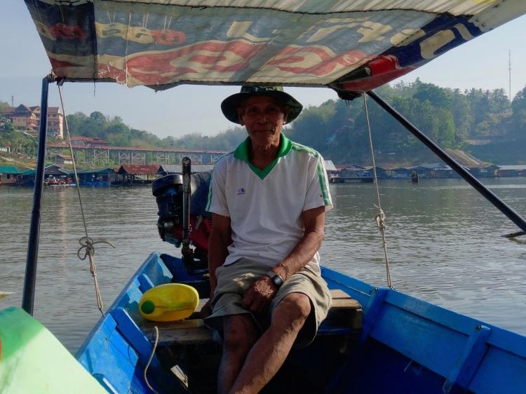 Dawn cruise Khao Laem Reservoir Sangkhlaburi Thailand