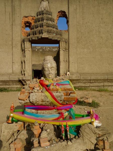 Entrance to Wat Sam Prasop Temple Sangkhlaburi Thailand