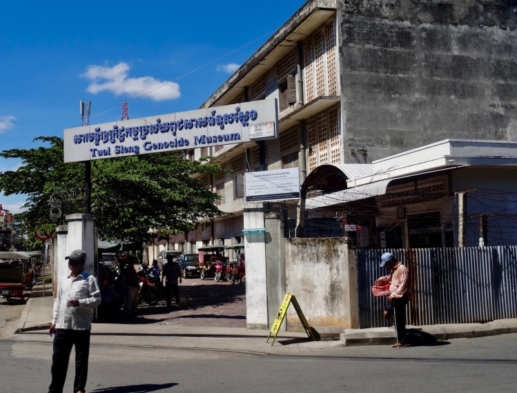Entrance Tuol Sleng Genocide Museum Phnom Penh Cambodia
