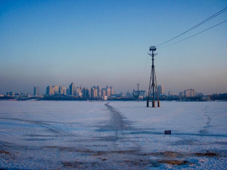 Frozen Songhua River Harbin Heilongjiang province China