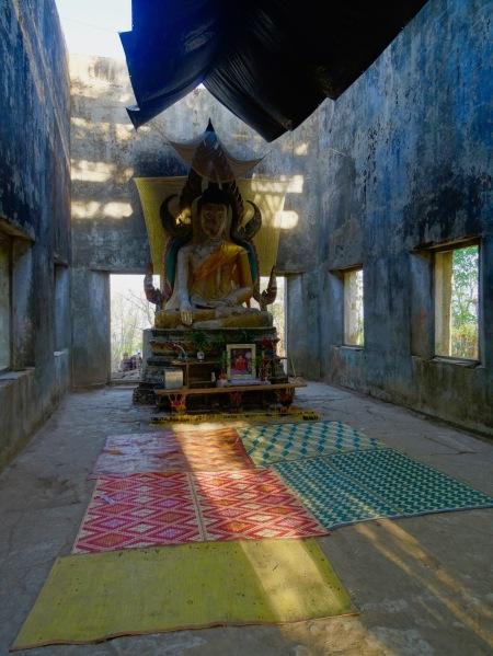 Inside Wat Somdet Gao Sangkhlaburi Thailand