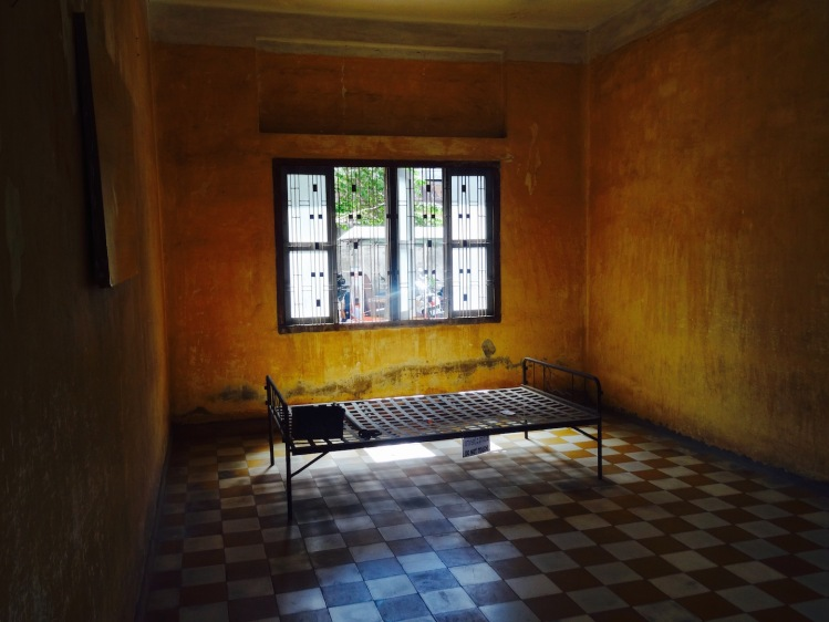 Interrogation room Tuol Sleng Genocide Museum Phnom Penh Cambodia