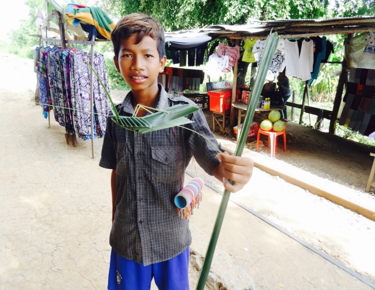Local boy Sra Lav Village Battambang Bamboo train Cambodia