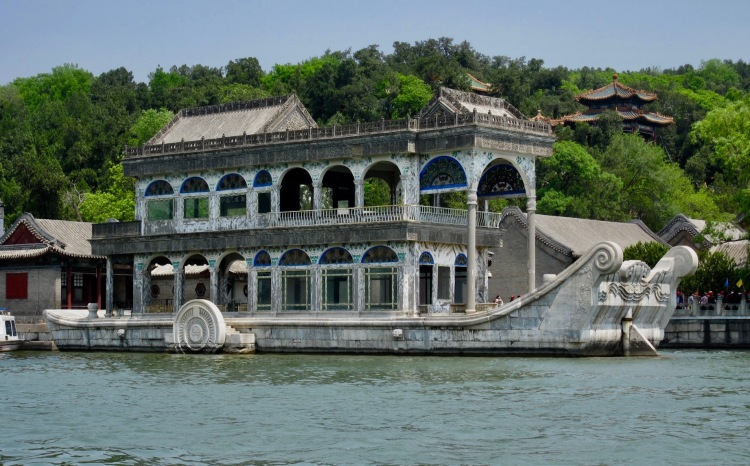 Marble boat of purity and ease Kunming Lake The Summer Palace Beijing