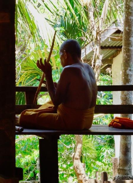 Monk Wat Wang Wiwekaram Uttama Temple Sangkhlaburi Thailand
