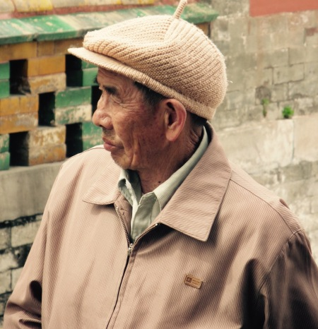Old Chinese man The Forbidden City Beijing