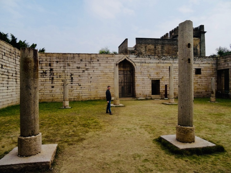 Ruined prayer hall Qingjing Mosque Quanzhou Fujian Province China