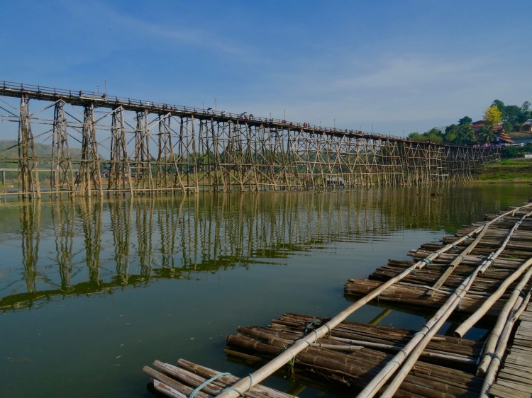 Saphan Mon Bridge Sangkhlaburi Thailand