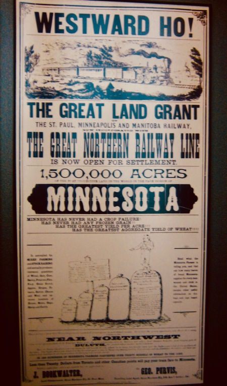 The Great Land Grant antique poster Ellis Island Immigration Museum New York City