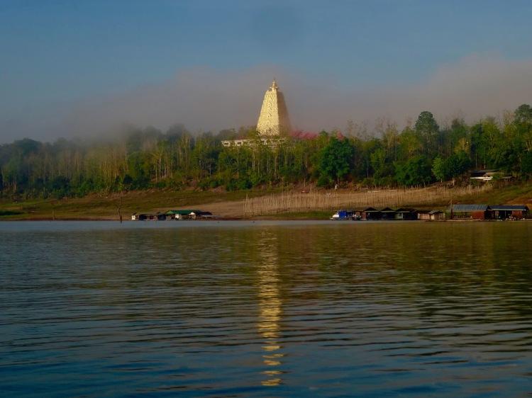 Wang Wiwekaram Temple Khao Laem Reservoir Sangkhlaburi Thailand