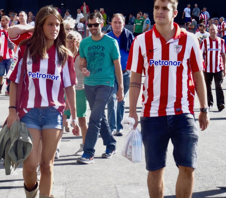 Atheltic Bilbao fans San Mames Stadium Bilbao Spain