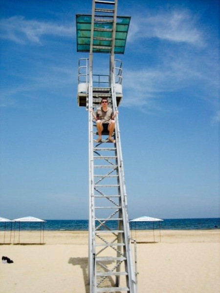 Lifeguard station Beach 2 Yantai Shandong Province China