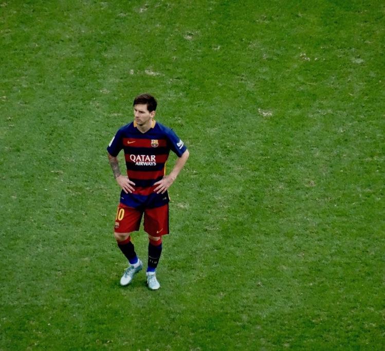 Lionel Messi Athletic Bilbao versus Barcelona San Mames Stadium August 23rd 2015