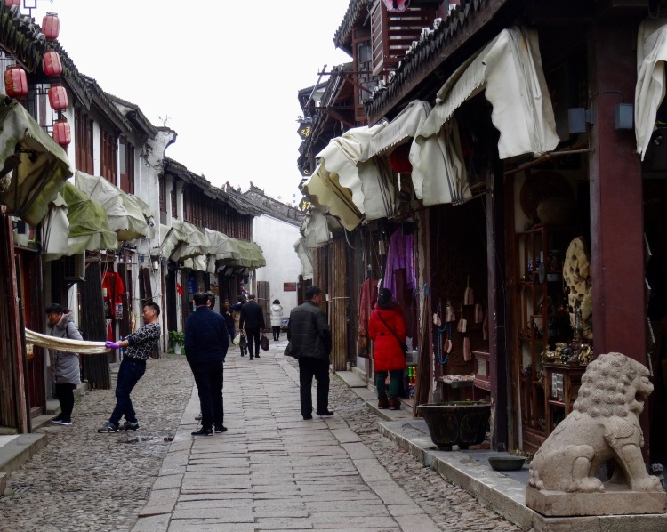 Ming and Qing Shopping Street Tongli Water Town Suzhou China