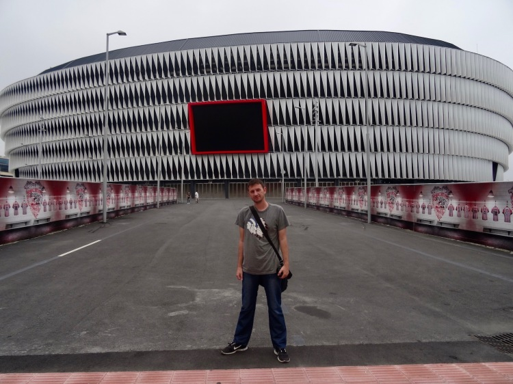 Outside San Mames Stadium Bilbao Spain